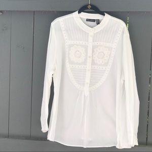 White Cotton Long Sleeve